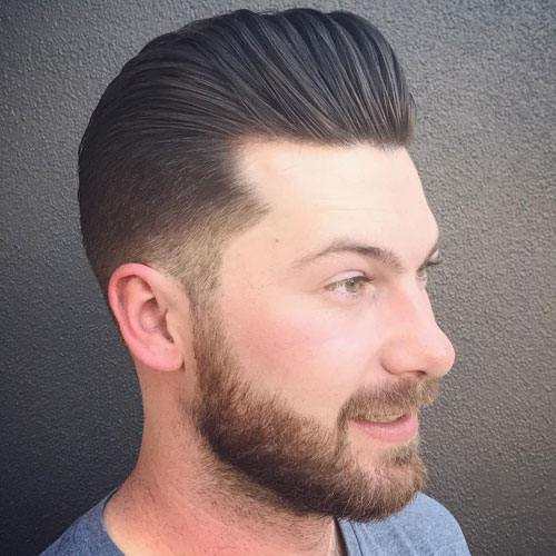 Classic Pompadour With Beard