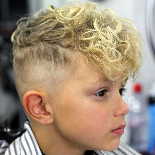 Curly Fringe with High Fade Haircut