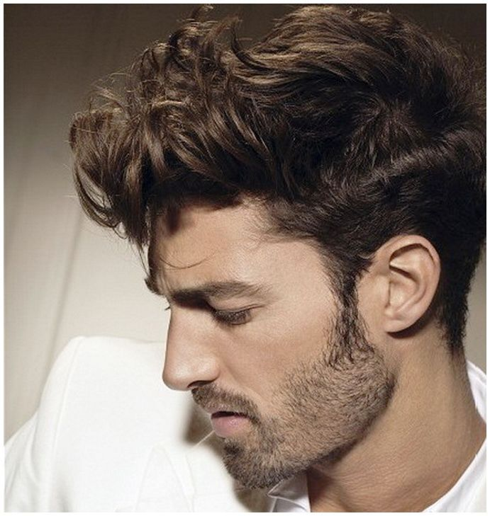 Curly Pompadour Haircut for Men