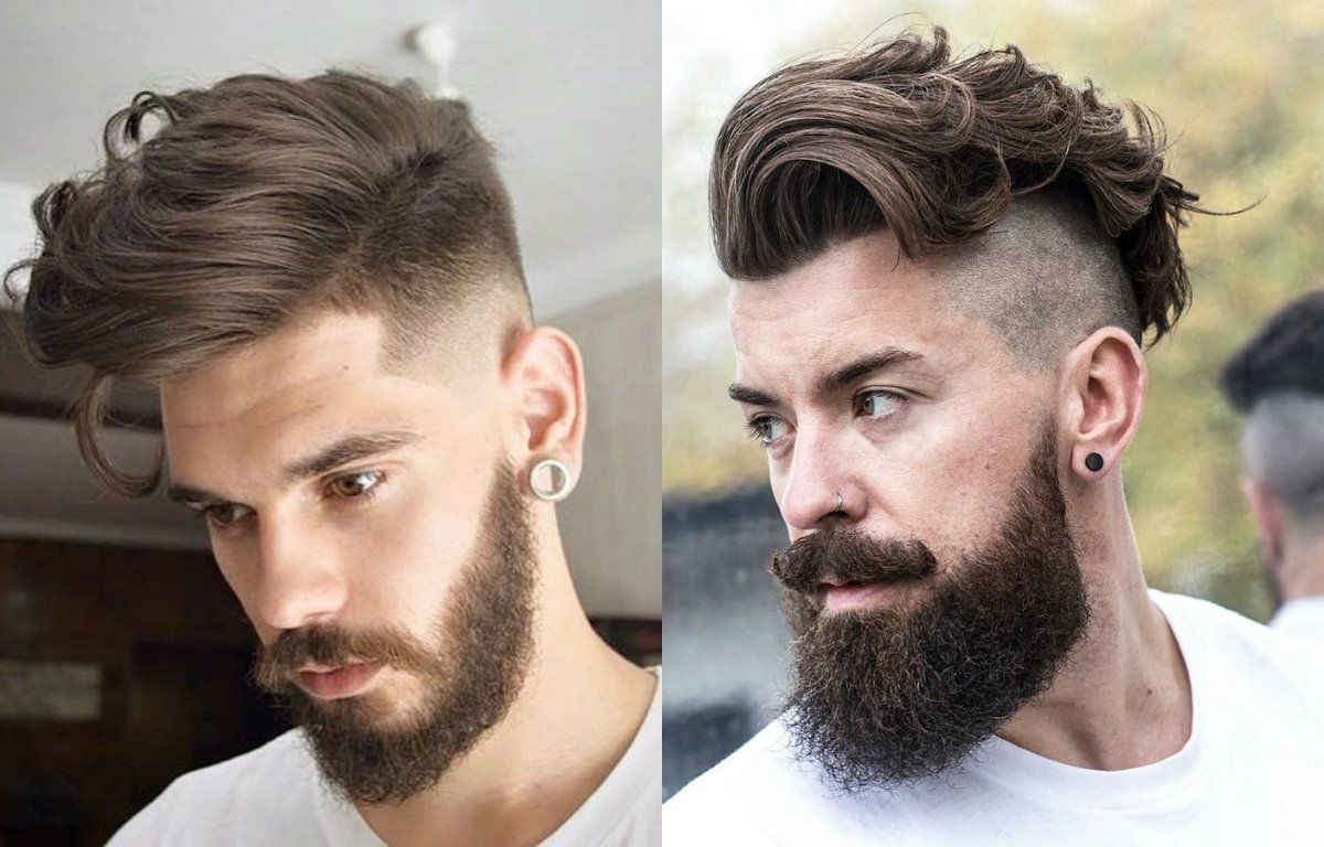 Curly Undercut With Beard Hairstyle For Men