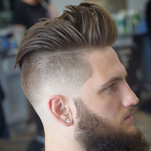 Disconnected Quiff Undercut Hairstyle