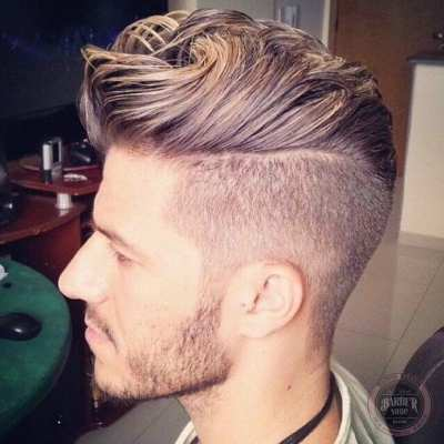High Fade Plus Loose Pompadour