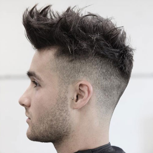 High Fade Quiff Haircut