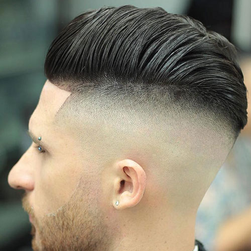 High Skin Fade + Comb Over Pomp