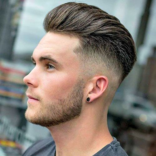 Long Hair Brushed Back Haircut