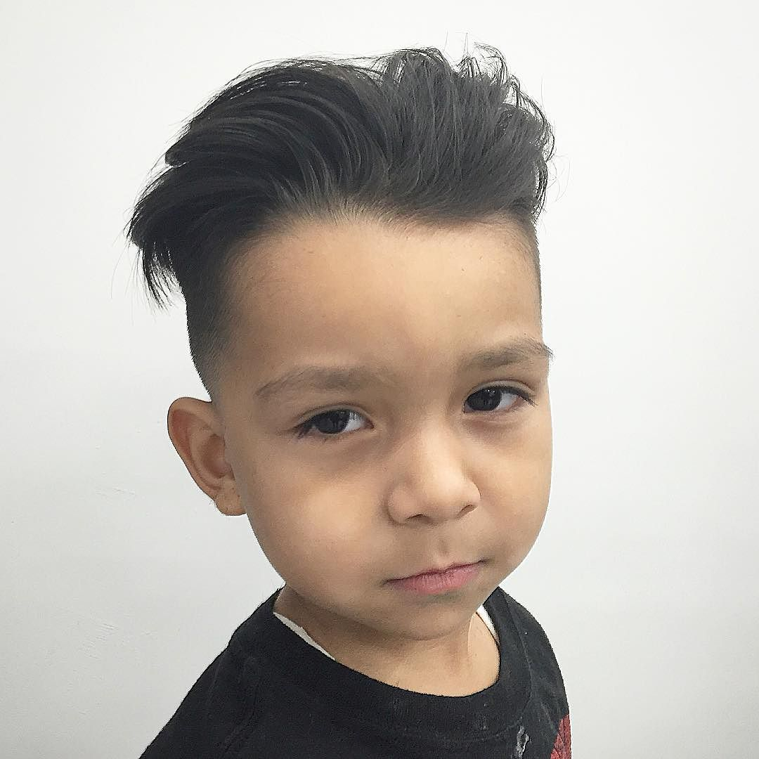 Long Hair + Fade Haircut for Boy
