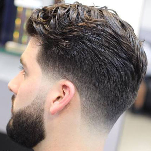 Low Fade To Thick Long Hair Quiff