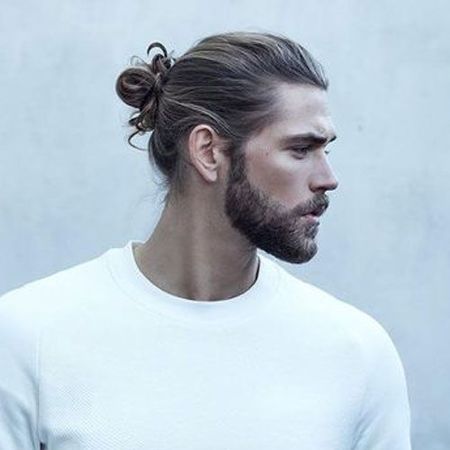 Man Bun and Beard Hairstyle