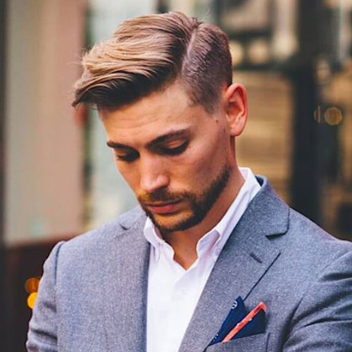 Mens Side Parted Hairstyle