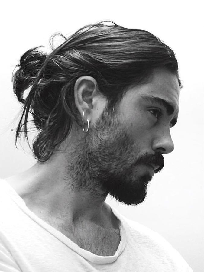 Messy Low Bun haircut for men
