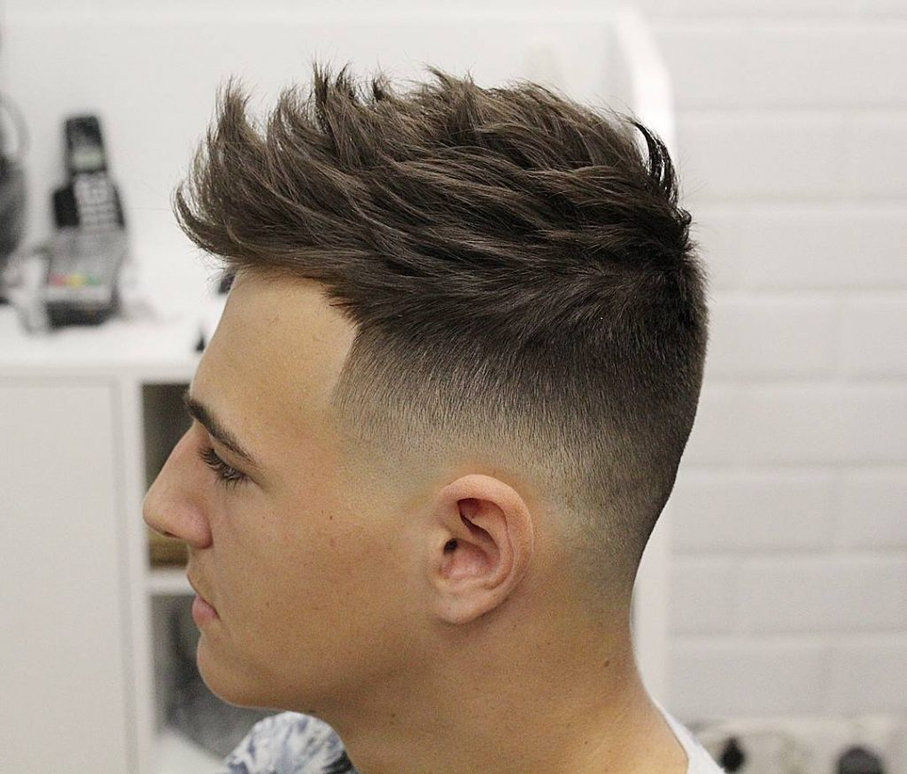 Mid Fade mens Hairstyle