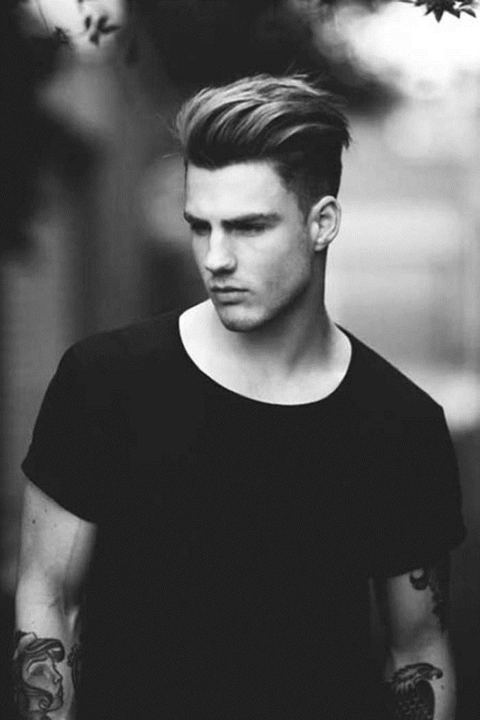 Modern Pompadour Mens Haircut