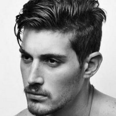 Quiff With Side Parting Haircut For Men