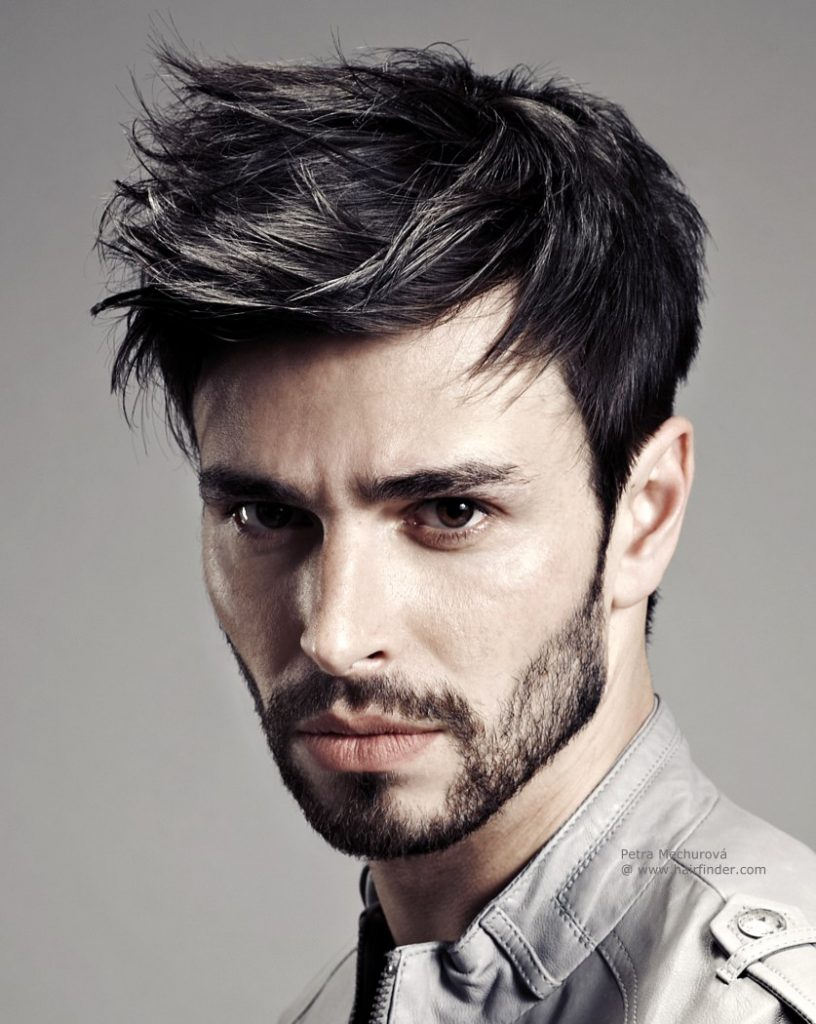 Rough and random hairstyle for men