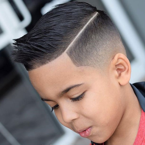 Spiky Hair with Mid Fade Haircut