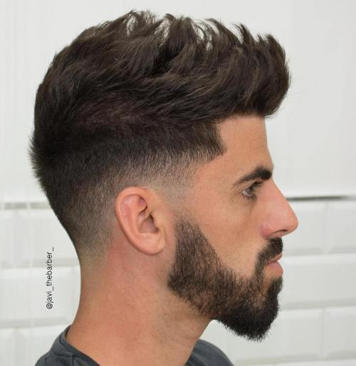 Spiky Low Fade Haircut For Men