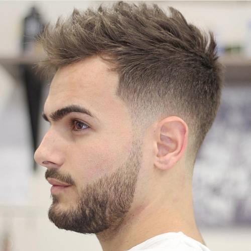 Tapered Fade With Spiky Top