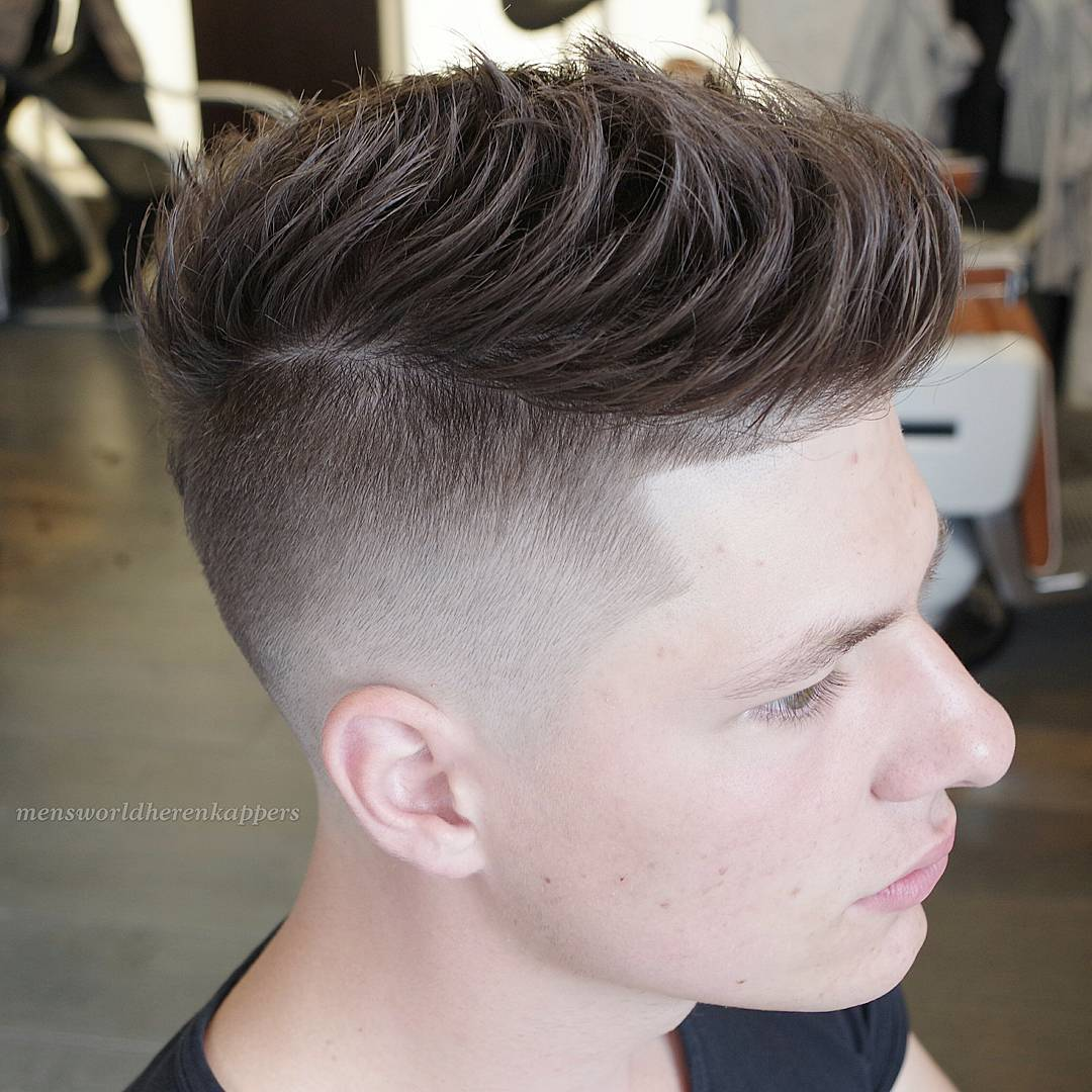 Textured Disconnected Undercut Hairstyle