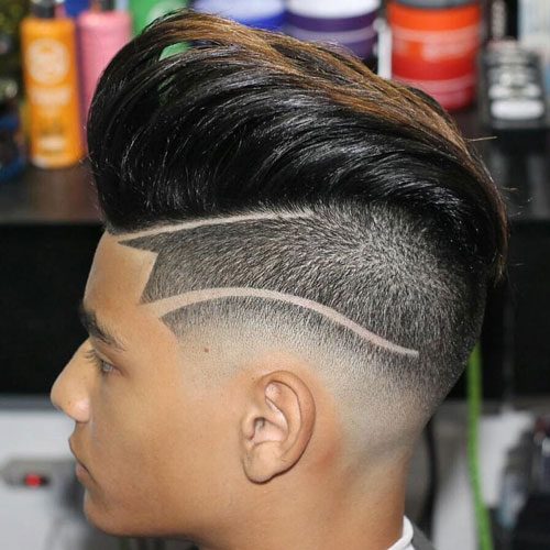 Textured Pompadour Undercut Hairstyle
