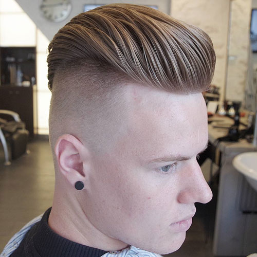 Thick Slick Back with Undercut Hairstyle