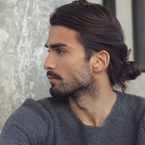 Twist In Bun Hairstyle for men