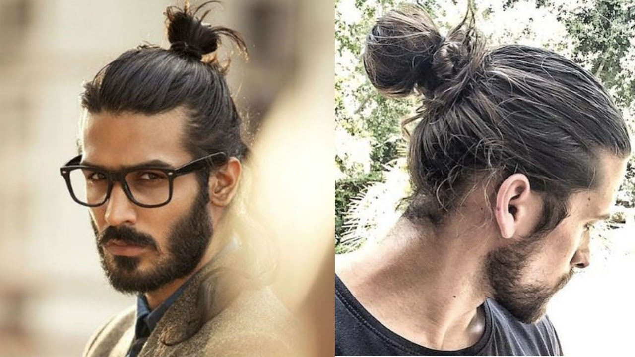 Twisted Topknot men's haircut