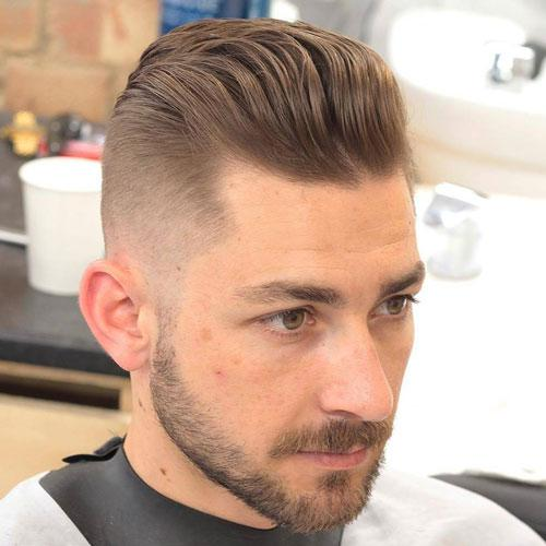 Wavy Pompadour Mens Hairstyle