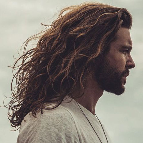 popular long hairstyle for men