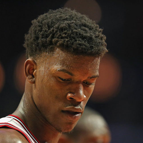 Jimmy butlers Afro fade haircut
