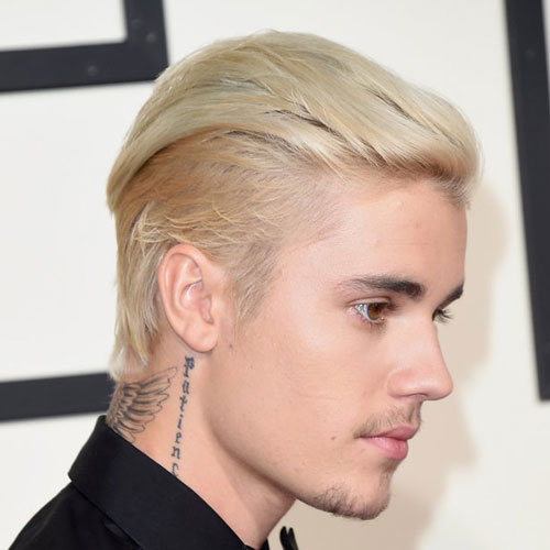 Justin Biebers Blonde And Platinum Hair