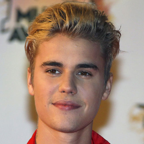 Justin Bieber Hairstyle Textured Slicked Back Hair