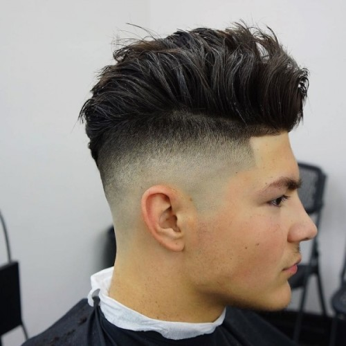 Thick Mohawk With Fade