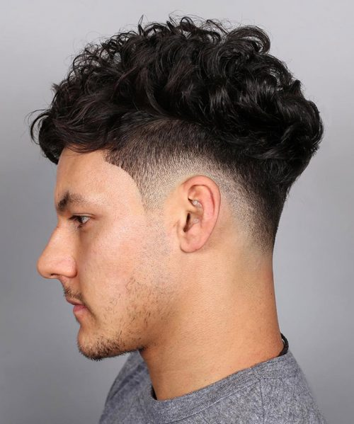 Curly Taper Fade Haircut