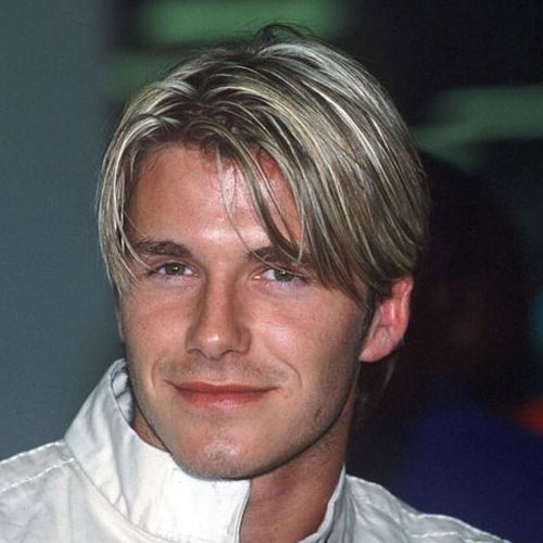 David Beckham Hair bang style