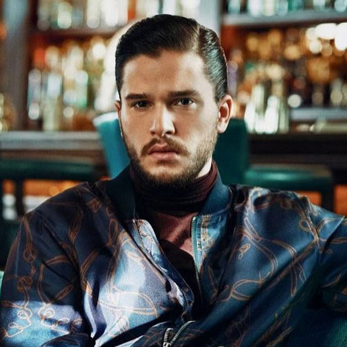 Kit Harington Hard Part Comb Over