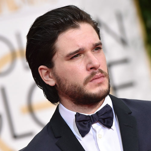 Kit Harington Long Slicked Hairstyle