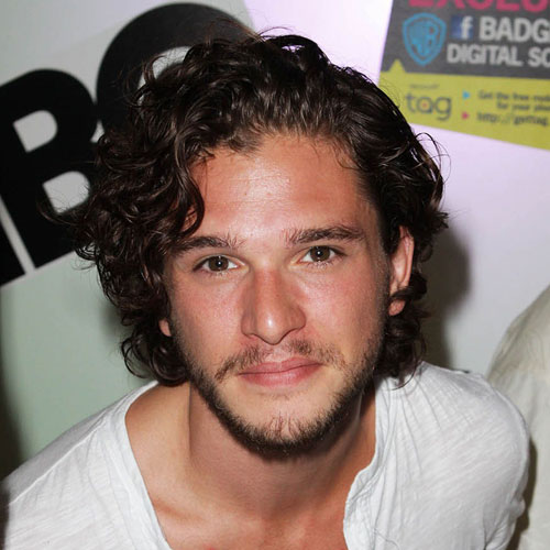 Kit Harington Thick Curly Hairstyle