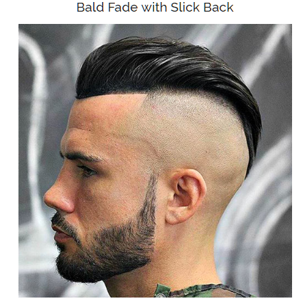 Bald Fade With Slick Back
