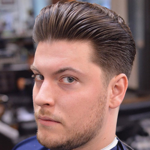 CLASSIC TAPERED SIDES + THICK BRUSHED BACK HAIR