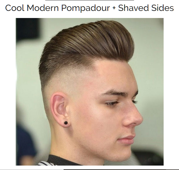 Cool Modern Pompadour with Shaved Sides