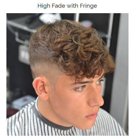 High Fade with Fringe
