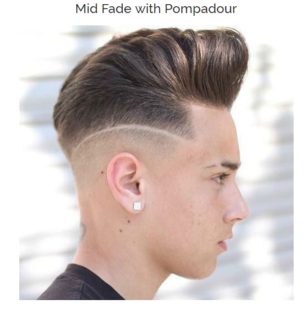 Mid Fade with Pompadour