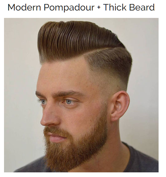 Modern Pompadour with Beard