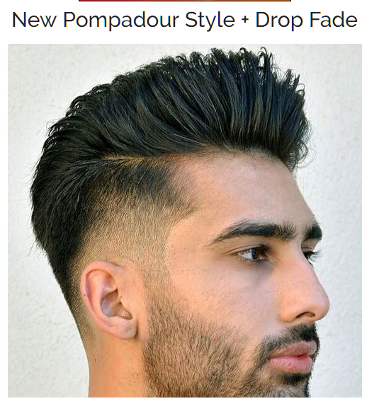 New Pompadour Style with Drop Fade