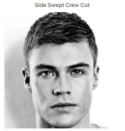 Side Swept Crew Cut