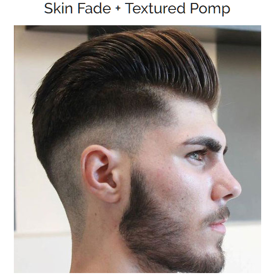 Skin Fade with Textured Pomp