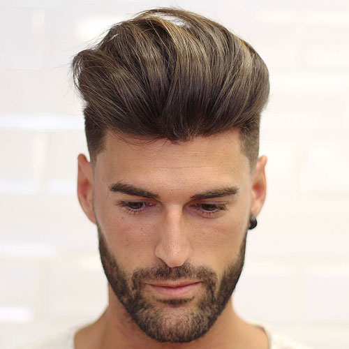 TEXTURED MODERN QUIFF + LINE UP + BEARD