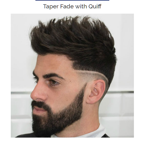 Taper Fade With Quiff