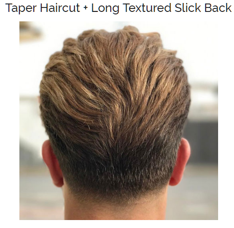 Taper Haircut with Long Textured Slick Back