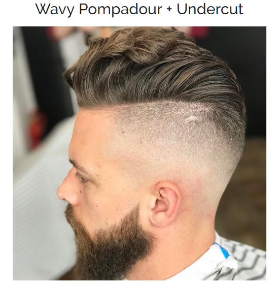 Wavy Pompadour with Undercut Hairstyle